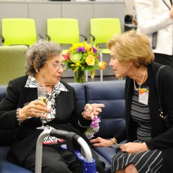 Jean Farber takes a moment to chat with Ann Manzi