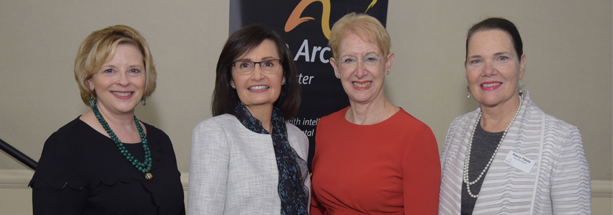 Above from left: Sally A. Paull, Senior Vice President, Human Resources, Regeneron; Tibi Guzmán, Executive Director/CEO, The Arc Westchester; Marsha Gordon, President/CEO, The Business Council of Westchester and Nancy Patota, Executive Director, The Arc Westchester Foundation