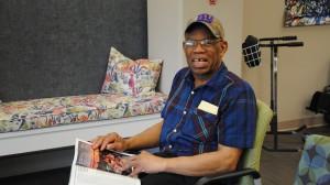 older gentleman reading magazine