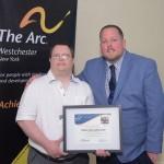 Yaniv Gorodischer, recipient of The Anthony Cannata Memorial Employee Award with Matt Carroll, The Arc Westchester.